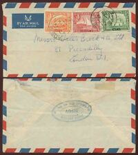 ADEN 1948 AIRMAIL to GB 8A + 1 1/2A +1/2A TIP TOP STORES STEAMER POINT HANDSTAMP