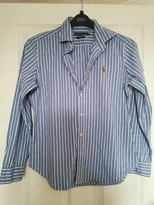 Ralph Lauren Ladies Shirt In Size 12 Striped