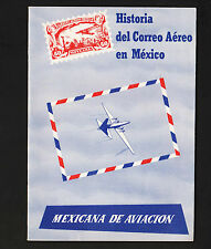 OPC Mexicana Airlines History of Airmail in Mexico 13pg Booklet in Spanish