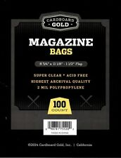 Pack of 100 CBG Time / SI Magazine Size 2 Mil Archival Soft Clear Poly Bags