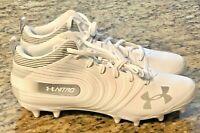 Under Armour UA NITRO MID MC Football Cleats Sz. 10 White 3000181-100 *NEW* #UA