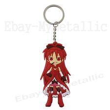 "Puella Magi Madoka Magica Sakura Kyoko PVC Figure 3.2""/ 9cm Key Ring Chain"