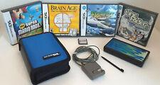 EUC Lot Nintendo DS Lite w/ Stylus, Charger, Case, 5 Games Mario Starfox Disgaea