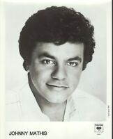 Johnny Mathis 8x10 b&w glossy publicity photo