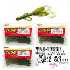 "(3) Unopened Pack Zoom Super Salt Plus 6"" Brush Hog Watermelon Gold Glit 022-141"