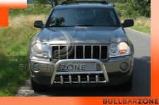 JEEP GRAND CHEROKEE WK 2005+TUBO PROTEZIONE MEDIUM BULL BAR INOX STAINLESS STEEL