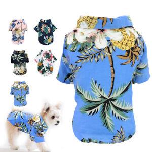 Puppy Summer Shirt Small Dog Cat Pet Clothes Vest T Shirt Hawaii Beach Yorkshire