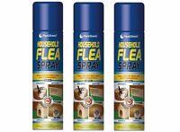3x Household Flea Killer Spray 200ml Aerosol Animal Flea Dog Cat Tick Protection
