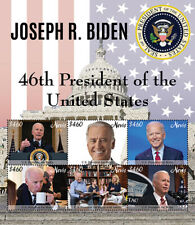 Nevis 2021 - President Joe Biden - 46th President of USA - Sheet of 6 - MNH