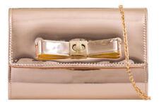 Borse da donna borsette pochetti metallizzato con fermaglio