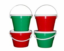 4-1 Gallon Buckets Lids 2 ea Red Green Made in USA Lead Free Food Safe Air Tight