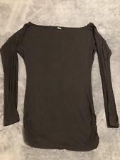Guess Womens Tunic Shirt Black Long Sleeve Size S