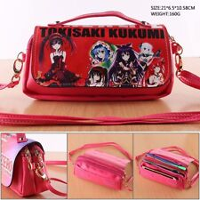 Date A Live Tokisaki Kurumi Leather Purse Handbag Clutch Messenger Bag Makeup