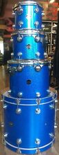 1996 DW Collector's Series Blue Sparkle 4-Piece Shell Pack Acoustic Drum Kit