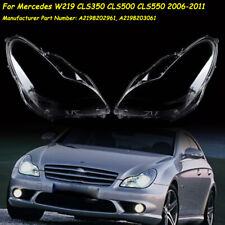 W219 headlight Lens Cover for 2006-2011 CLS Mercedes Right&Left Pair Lampshades