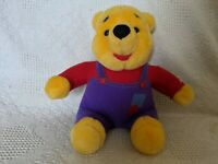 1997 Mattel Disney Wiggle Giggle Winnie The Pooh Talking Plush Tested Toy Vtg