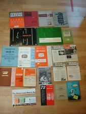 Lot of 21 Vintage Electronic Ham Radio Tv Sams Service Manuals Schematics