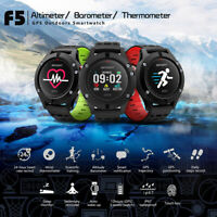 Outdoor Hiking Sport Smart Watch Bluetooth GPS Heart Rate Monitor Waterproof F5