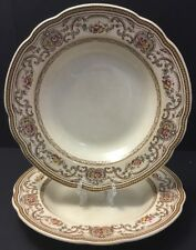 """Vintage Wedgwood TRIANON 1 Pasta~Soup~Bowl~Plate~10""""~flowers~brown~pink~England"""