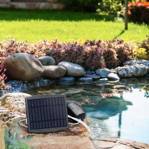 Solar Power Pool Pond Fish Tank Oxygenator Oxygen Aerator Air Pump Aquarium E4U1