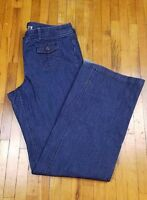 New York & Company Womens Jeans SIZE 10 Mid Rise Straight Leg Dark Rinse