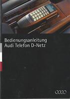 AUDI TELEFON D - NETZ Bedienungsanleitung 1995 Betriebsanleitung Telecar 901 RN