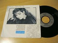 """7"""" Single Sandra Midnight Man Vinyl Virgin 108 836-100"""
