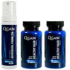 Qgain minoxidil 2 foam for Women & Men 3 Month Supply 1 X 180ml Bottle