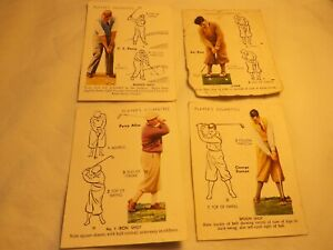 cigarette cards John Players & Sons GOLF large size