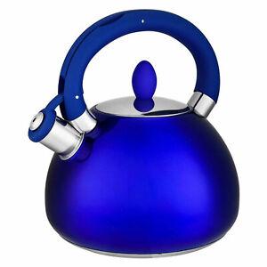 Hamilton Beach 3.2 Quart Stainless Steel Water Boiler Whistling Tea Kettle, Blue