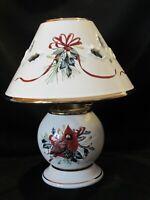 Lenox Candle Cardinal Lamp Winter Greetings Votive Christmas Light