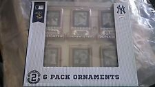 Derek Jeter NY Yankees Six Christmas Tree Ornaments Rare  Fans Collectible