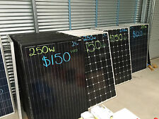 Solar Panels – Used – with 10 year warranty 250w
