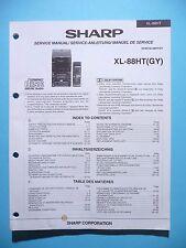 Manuel de reparation pour Sharp xl-88ht, original