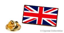UK FLAG ENAMEL LAPEL PIN GOLD BORDER UNION JACK United Kingdom British TIE TACK