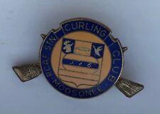 RCAF Stn Moosonee Curling Club Lapel Vintage PIN