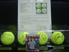 THE BIG FOUR Tennis Collection FEDERER NADAL DJOKOVIC MURRAY Signed Balls - JSA