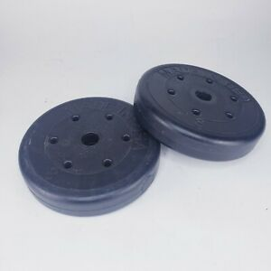"""8 lb Weight Plates (Pair) USA 1"""" Bar Coated  Pounds Barbell Round Gym Equipment"""