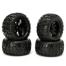 4PCS Tire Wheel Rim & Tires HSP 1:10 Monster Truck RC Car 12mm Hub 88005 Black