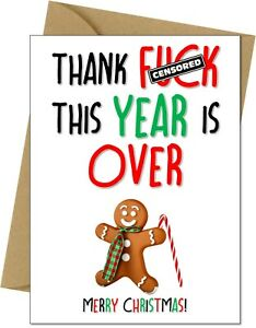 Funny Christmas Card Rude Sister Brother Friend Mum Dad free postage