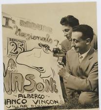 Italia, Ing. Mario Miccoli e Ing. Franco Berger Vintage silver print Tirage ar