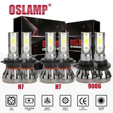 H7+H7+9006 Combo MINI LED Headlight High Low Beam + Fog Light Bulbs 6000K HID