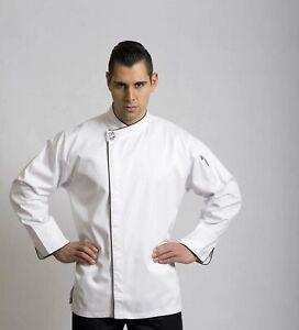 Modern (Black Trim) Long Sleeve Chef Jacket