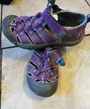 Girls Periwinkle/Purple Heart Youth 5 KEEN Newport H2 Nylon Sandals Rubber Soles