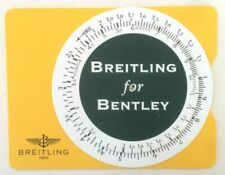 Outstanding Original Slide Rule by BREITLING for BENTLEY Motors Le Mans 2002...