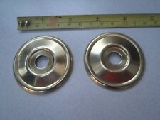 2 x 52 mm DIAMETER ANTIQUE STYLE BRASS FURNITURE / DOOR KNOB BACK PLATE / ROSES