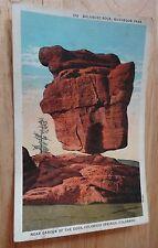 1930's Balanced Rock Mushroom Park Pikes Garden of the Gods Colorado Postcard