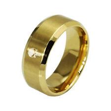 THE PUNISHER ~ Fashion Titanium Boys ~ Mens GOLD PUNISHER Polished Ring F11