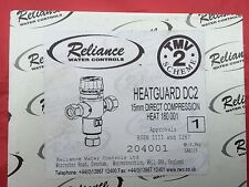 Reliance Water Controls Heatguard DC2 15MM TMV2 Thermostatic Mixing Valve