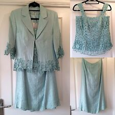 Gina Bacconi Aqua Green 3-Piece Occasion Mother of Bride Outfit 10